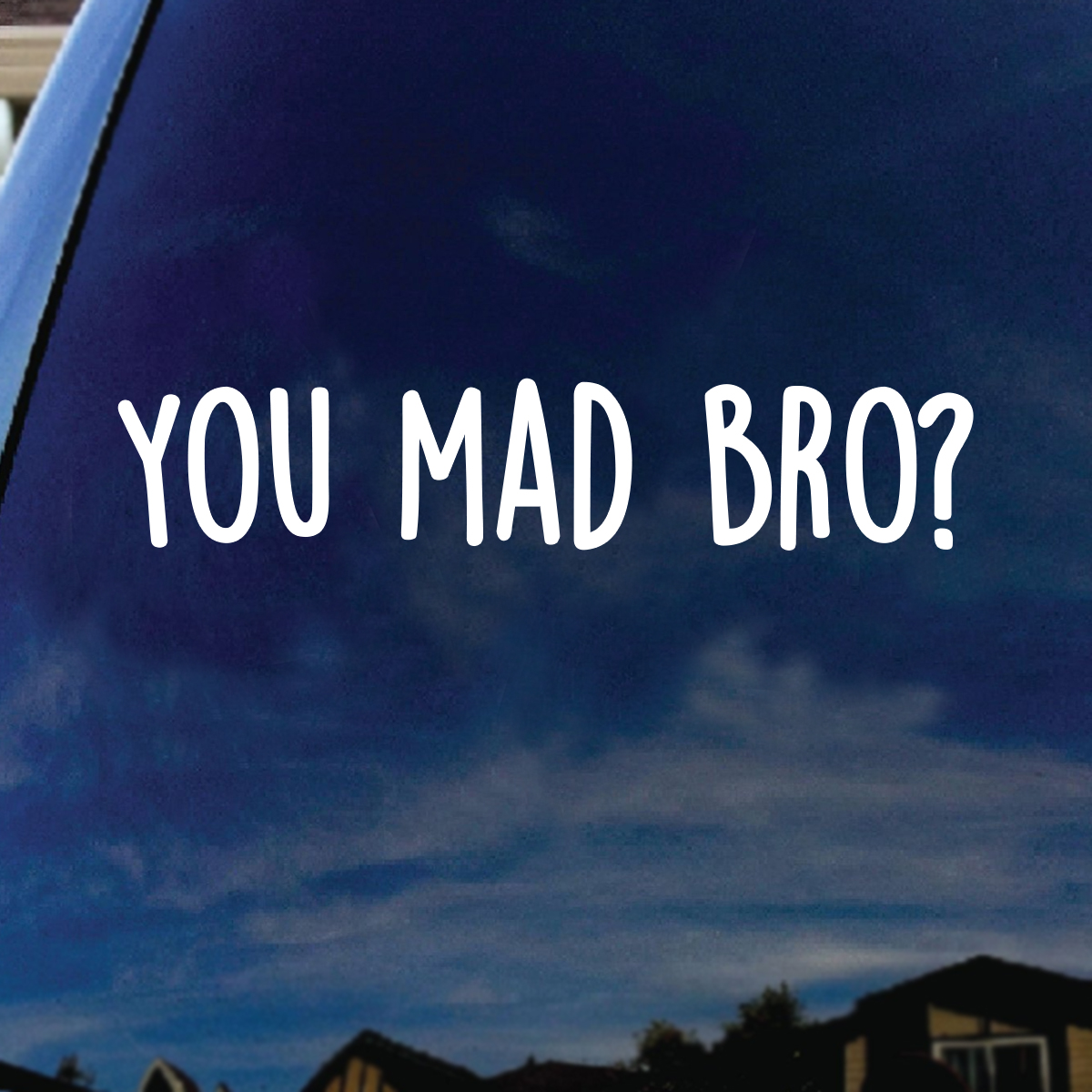Funny Vinyl Sticker Decal YOU MAD BRO