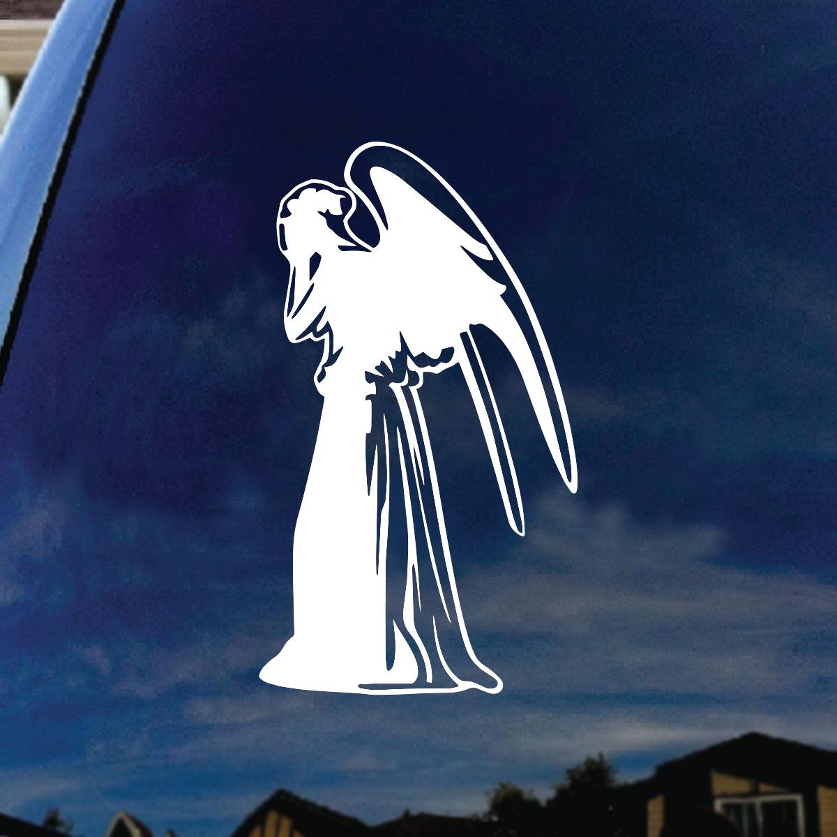 weeping angel silhouette doctor car window vinyl decal