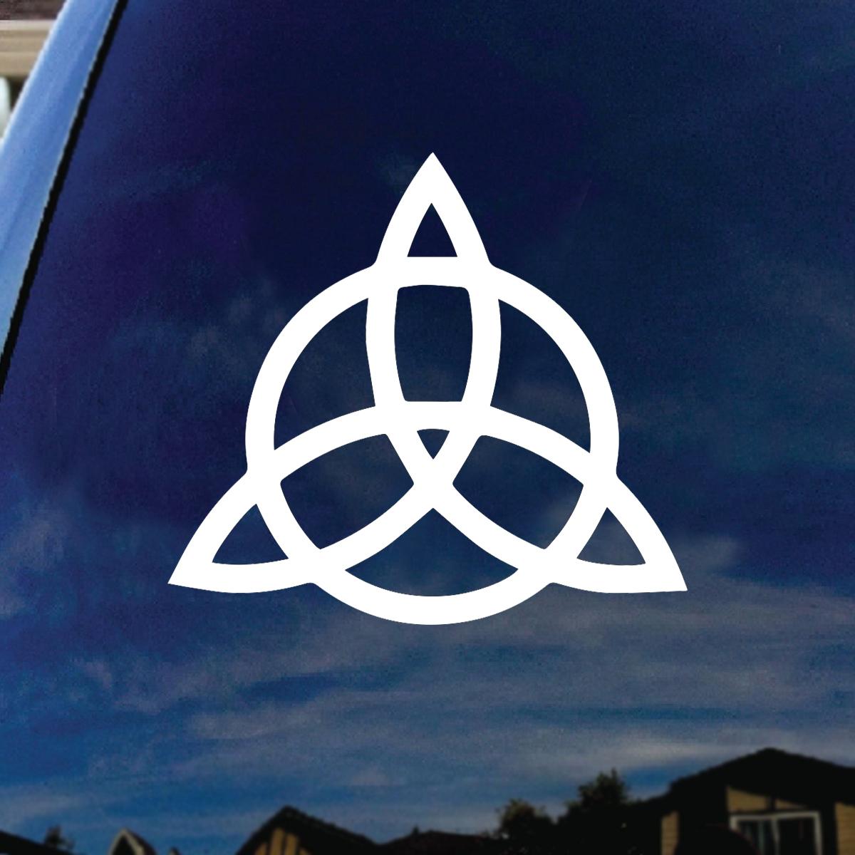 Triquetra Pagan Wiccan Car Truck Vinyl Decal 5 Diameter