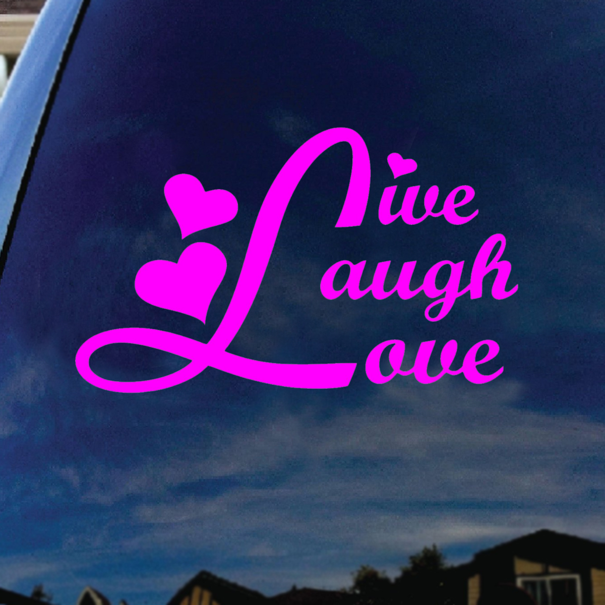 Live Laugh Love Pink Car Window Vinyl Decal Sticker 5 Wide