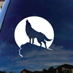 Howling Wolf Moon Car Window Vinyl Decal Sticker 5