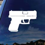 Pistol Firearm Gun Car Truck Laptop Sticker Decal 5