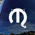Motor Parts Parody Devil Horns Tail Car Truck Laptop Sticker Decal
