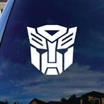 Autobot Silhouette Robot Face Car Truck Laptop Sticker Decal