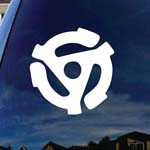 Record 45 RPM Spindle Adapter Car Window Vinyl Decal Sticker