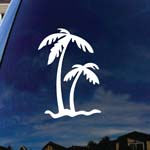 Palm Tree Car Window Vinyl Decal Sticker