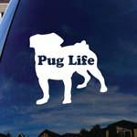 Pug Life Puppy Car Window Vinyl Decal Sticker