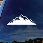 Mountains Silhouette Car Window Vinyl Decal Sticker