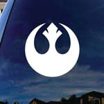 Rebel Symbol Alliance Wars Car Window Vinyl Decal Sticker