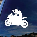 Motocross Motorcycle Bike Racing Car Window Vinyl Decal Sticker