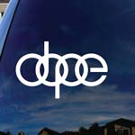Dope Rings Symbol Car Window Vinyl Decal Sticker