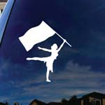 Color Guard Flag Car Window Vinyl Decal Sticker
