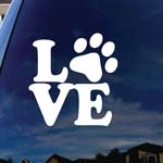Love Paw Dog Cat Family Car Window Vinyl Decal Sticker