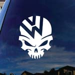 VW Skull Head Parody Jetta Car Window Vinyl Decal Sticker