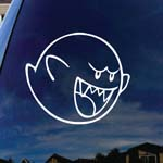 Mario Character Cartoon Boo Car Window Vinyl Decal Sticker