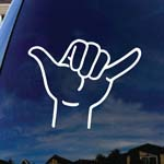 Loose Hand Symbol Shaka Car Window Vinyl Decal Sticker