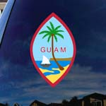 Seal of Guam Car Window Vinyl Decal Sticker
