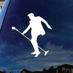 The Pelvis King Of Rock Silhouette Car Window Vinyl Decal Sticker