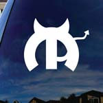 Motor Parts Devil Parody Evil Car Truck Laptop Sticker Decal
