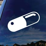Pill Anime Car Window Vinyl Decal Sticker