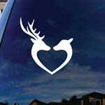 Deer Hearts Love Car Window Vinyl Decal Sticker