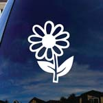 Daisy Flower Car Window Vinyl Decal Sticker