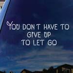 You Don't Have To Give Up Lyrics Band Dead Mouse Head Car Window Vinyl Decal Sticker