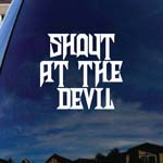 Shout At The Devil Lyrics Band Car Truck Laptop Sticker Decal