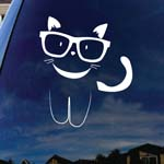 Kitty With Sunglasses Car Window Vinyl Decal Sticker