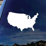 USA Country Outline Patriotic Car Window Vinyl Decal Sticker
