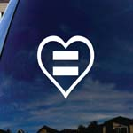 Human Rights Gay Lesbian Equal Sign Heart Car Truck Laptop Sticker Decal
