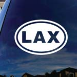 LAX Lacrosse Car Window Vinyl Decal Sticker