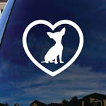 Chihuahua Heart Love Car Window Vinyl Decal Sticker
