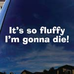 It's So Fluffy I'm Gonna Die Funny Car Window Vinyl Decal Sticker