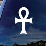 Ankh Egyptian Cross Car Truck Laptop Sticker Decal