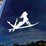 Sexy Surfer Girl Car Window Vinyl Decal Sticker