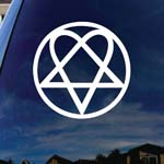 Heartagram Car Window Vinyl Decal Sticker