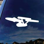 Classic USS Trek Car Window Vinyl Decal Sticker