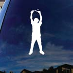 Drumer Musician Silhouette Car Window Vinyl Decal Sticker