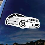 German Automotive Car Silhouette Car Window Vinyl Decal