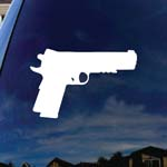 Firearm Pistol Pro Gun Oval Car Window Vinyl Decal Sticker