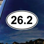 26.2-Marathon-Euro-Oval Car Truck Laptop Sticker Decal