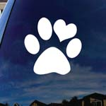 Love Paw Family Car Window Vinyl Decal Sticker