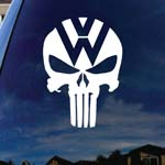 VW Skeleton Skull Car Window Vinyl Decal Sticker