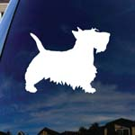 Scottie Dog Car Window Vinyl Decal Sticker 4