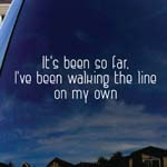 It's Been So Far Song Lyrics Dead Mouse Band Car Window Vinyl Decal Sticker 5