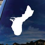 Seal Of Guam Window Vinyl Decal Sticker 6