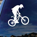 Mountain Bike Silhouette Car Window Vinyl Decal Sticker 6