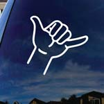 Hang Hand Symbol Shaka Car Window Vinyl Decal Sticker 6