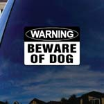 Beware of Dog Car Window Vinyl Decal Sticker 6